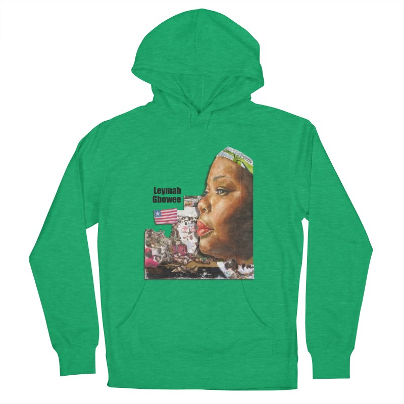 Leymah Gbowee  Remix Men's French Terry Pullover Hoody by Afro Triangle's