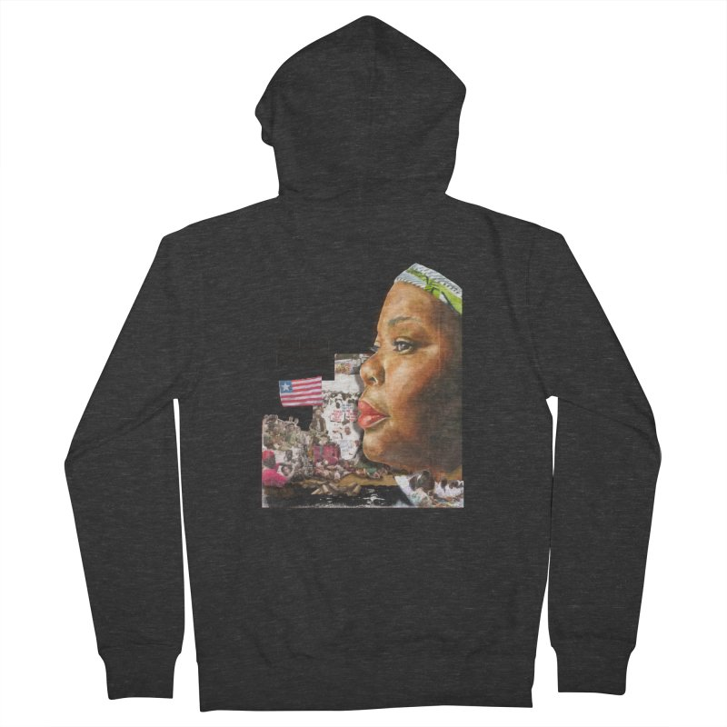 Leymah Gbowee  Remix Women's Zip-Up Hoody by Afro Triangle's