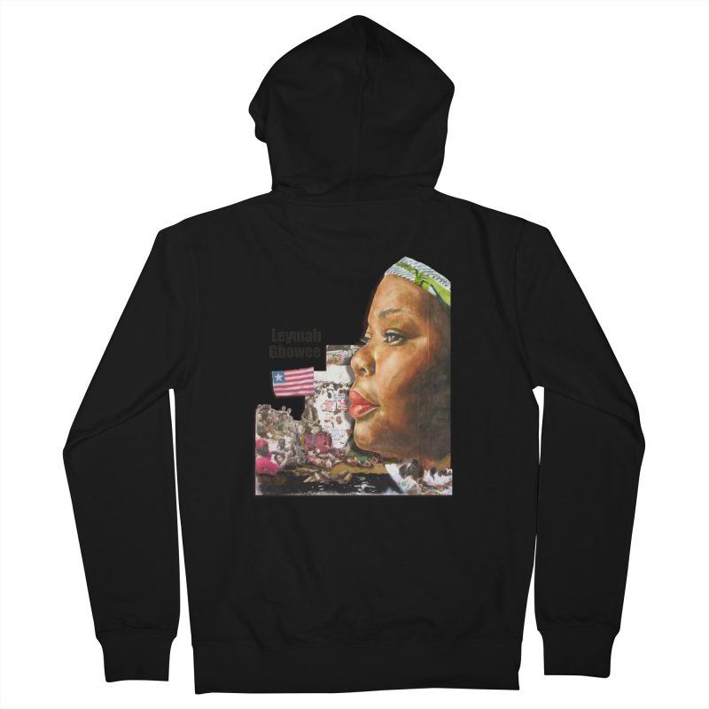 Leymah Gbowee  Remix Women's French Terry Zip-Up Hoody by Afro Triangle's