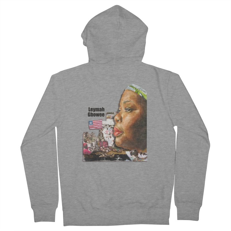 Leymah Gbowee  Remix Men's Zip-Up Hoody by Afro Triangle's