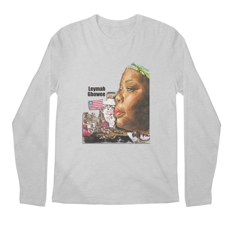 Leymah Gbowee  Remix Men's Regular Longsleeve T-Shirt by Afro Triangle's
