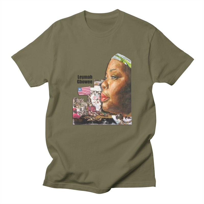 Leymah Gbowee  Remix Men's Regular T-Shirt by Afro Triangle's