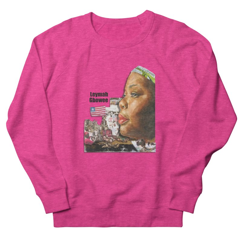 Leymah Gbowee  Remix Men's French Terry Sweatshirt by Afro Triangle's