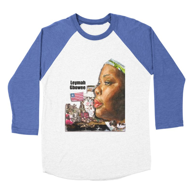 Leymah Gbowee  Remix Women's Baseball Triblend Longsleeve T-Shirt by Afro Triangle's