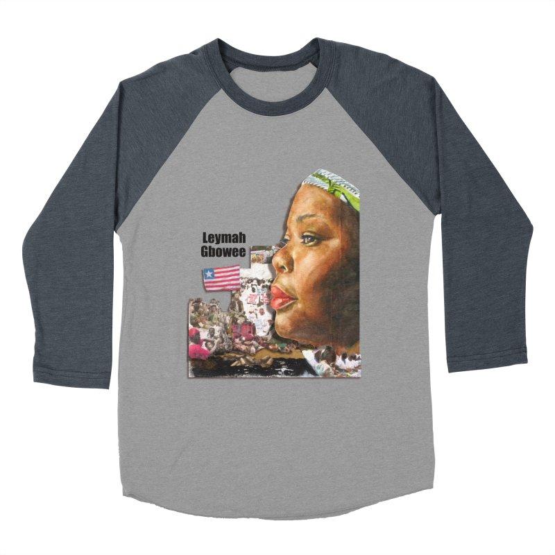 Leymah Gbowee  Remix Women's Baseball Triblend T-Shirt by Afro Triangle's