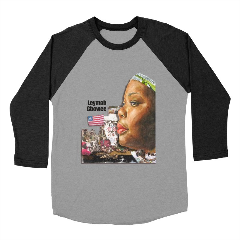 Leymah Gbowee  Remix Men's Baseball Triblend T-Shirt by Afro Triangle's