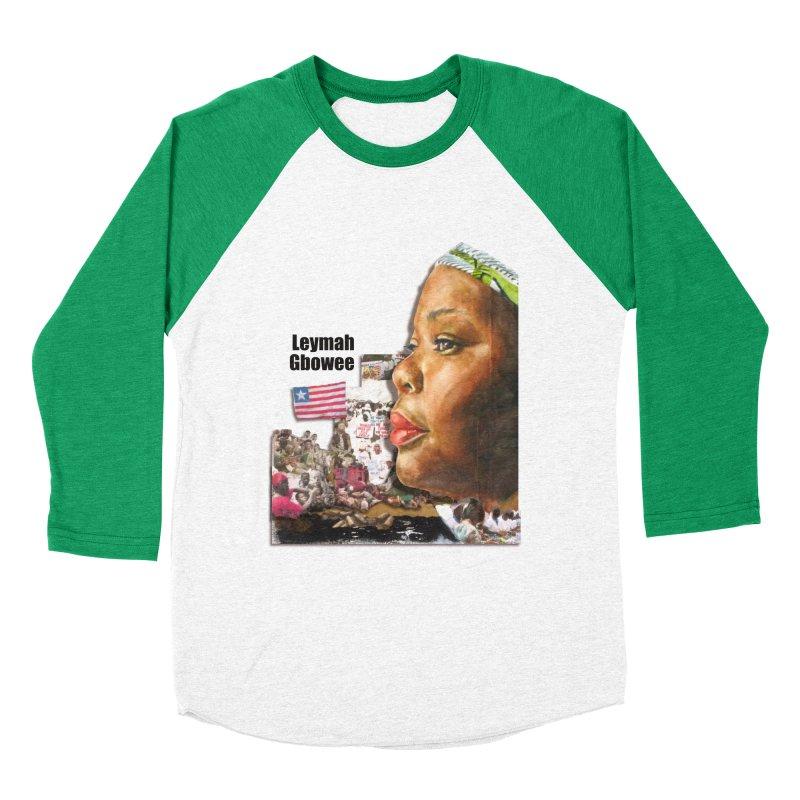 Leymah Gbowee  Remix Men's Baseball Triblend Longsleeve T-Shirt by Afro Triangle's