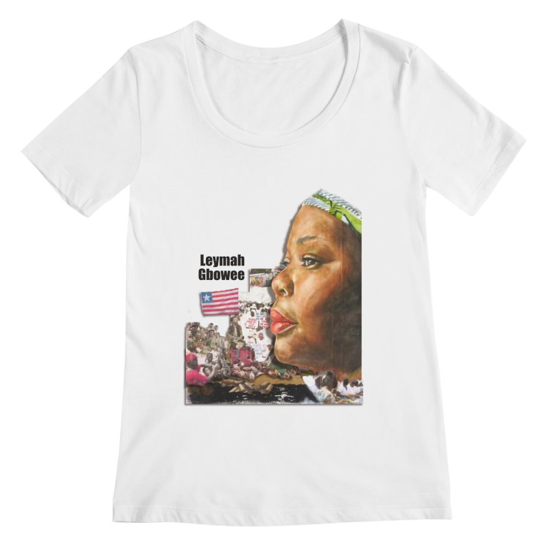 Leymah Gbowee  Remix Women's Regular Scoop Neck by Afro Triangle's