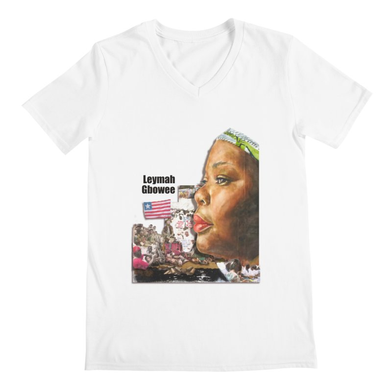 Leymah Gbowee  Remix Men's V-Neck by Afro Triangle's