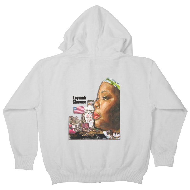 Leymah Gbowee  Remix Kids Zip-Up Hoody by Afro Triangle's