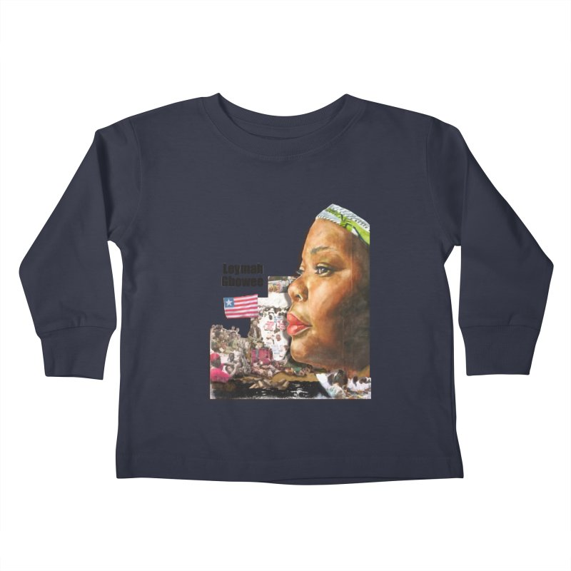 Leymah Gbowee  Remix Kids Toddler Longsleeve T-Shirt by Afro Triangle's