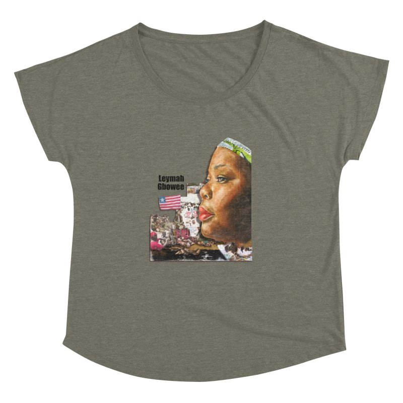 Leymah Gbowee  Remix Women's Dolman Scoop Neck by Afro Triangle's