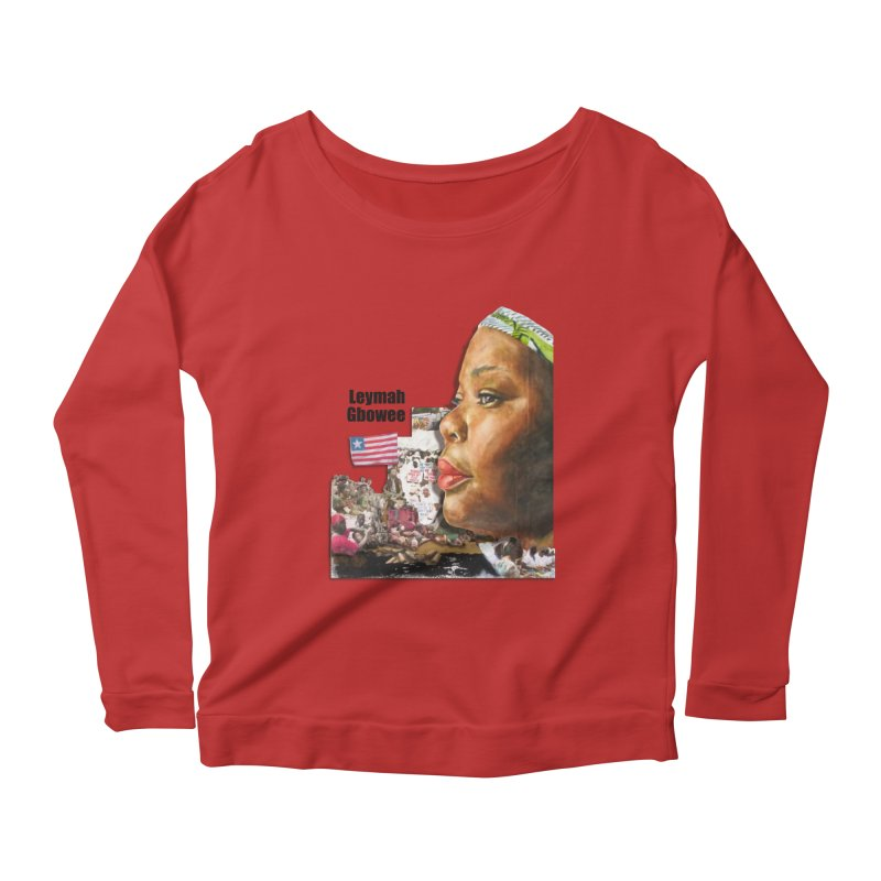 Leymah Gbowee  Remix Women's Scoop Neck Longsleeve T-Shirt by Afro Triangle's