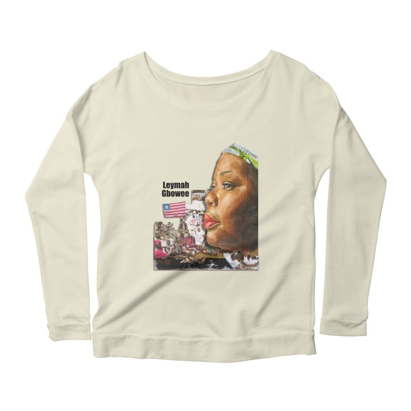 Leymah Gbowee  Remix Women's Longsleeve Scoopneck  by Afro Triangle's