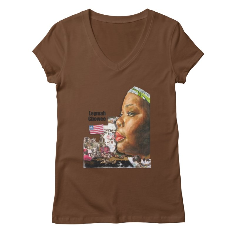 Leymah Gbowee  Remix Women's V-Neck by Afro Triangle's