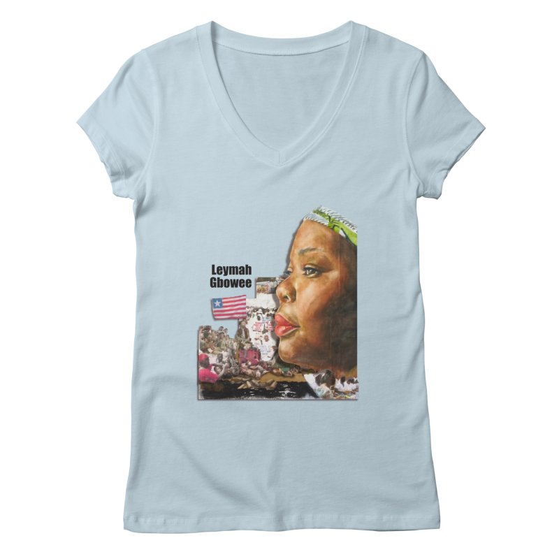 Leymah Gbowee  Remix Women's Regular V-Neck by Afro Triangle's