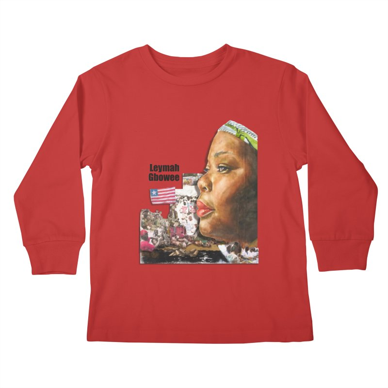Leymah Gbowee  Remix Kids Longsleeve T-Shirt by Afro Triangle's