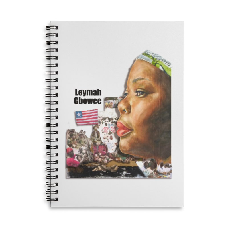 Leymah Gbowee  Remix Accessories Lined Spiral Notebook by Afro Triangle's