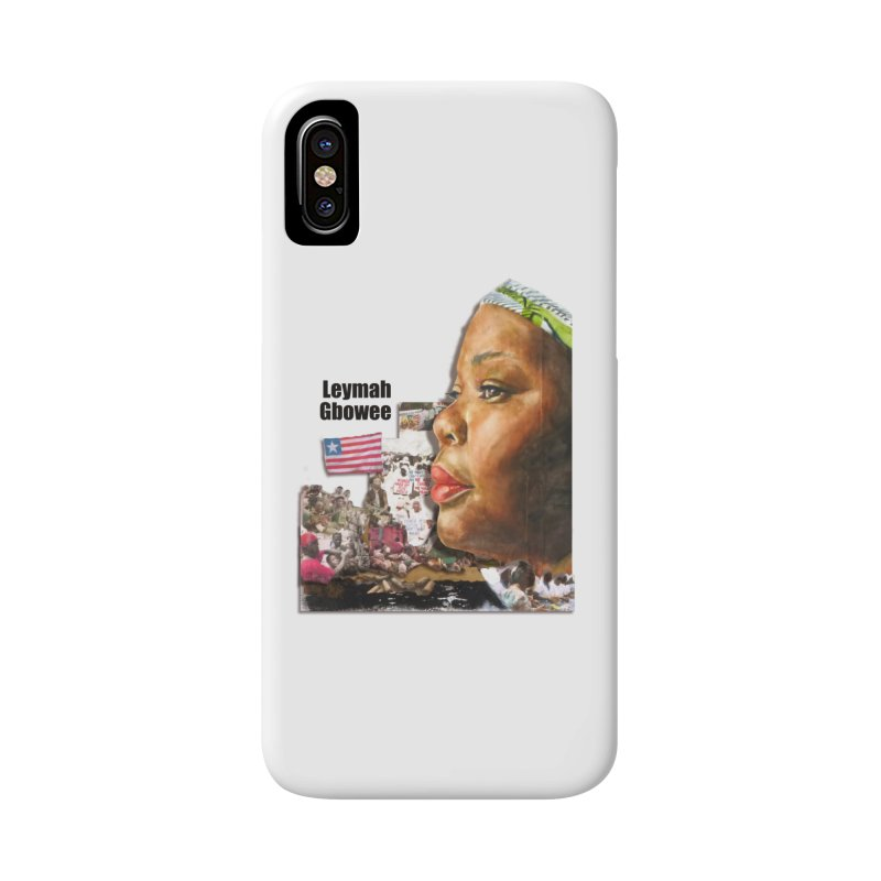 Leymah Gbowee  Remix Accessories Phone Case by Afro Triangle's
