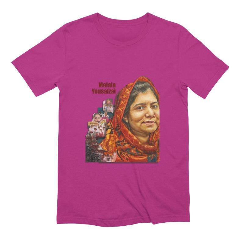 Malala Yousafzai Men's Extra Soft T-Shirt by Afro Triangle's