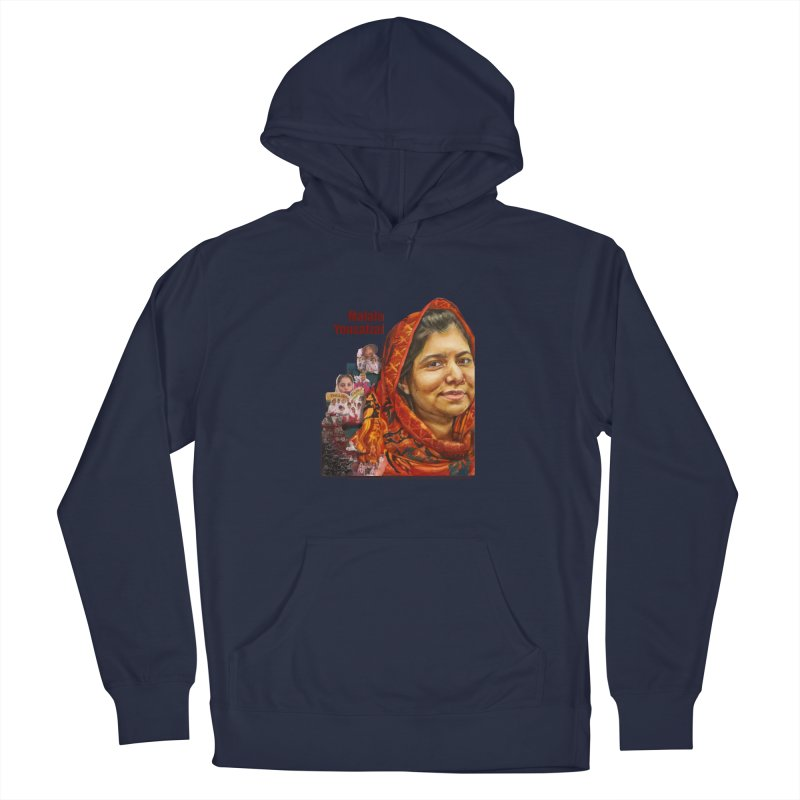Malala Yousafzai Men's Pullover Hoody by Afro Triangle's