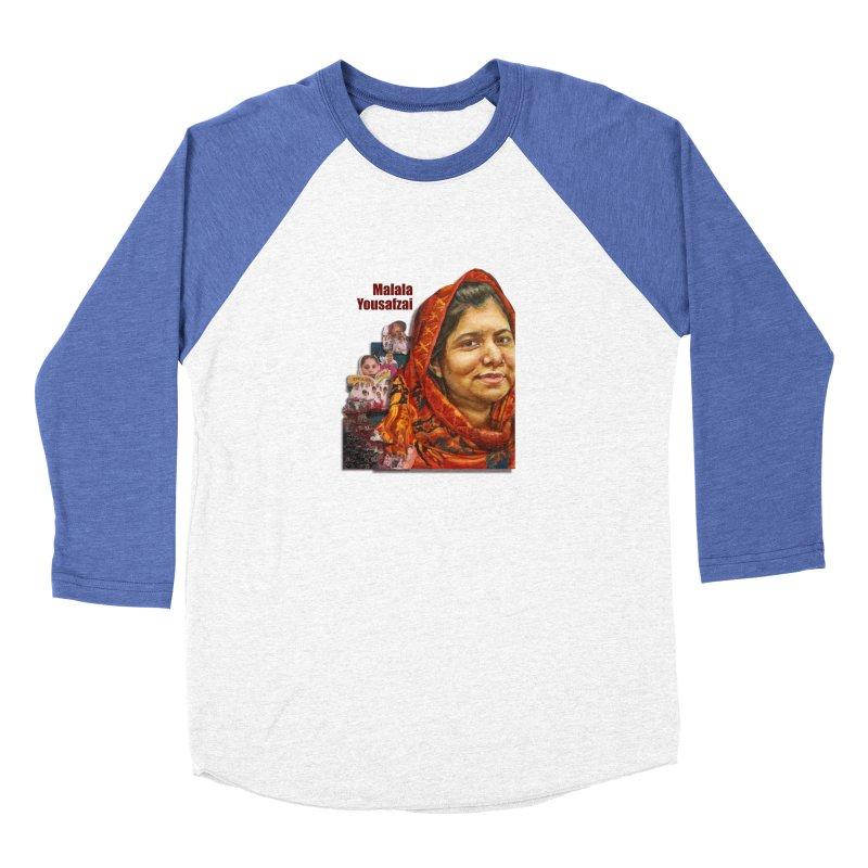 Malala Yousafzai Women's Baseball Triblend Longsleeve T-Shirt by Afro Triangle's