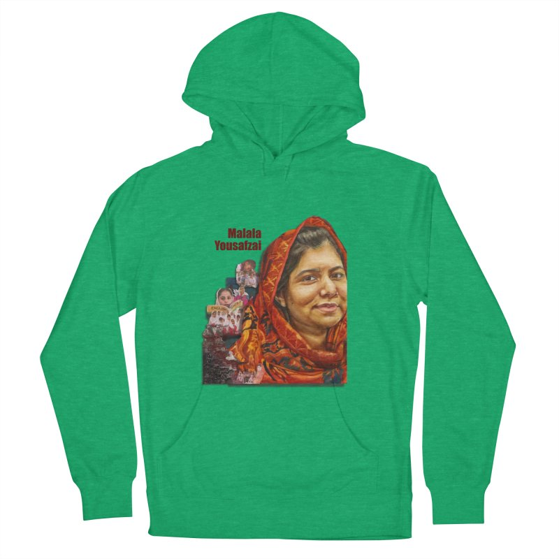 Malala Yousafzai Men's French Terry Pullover Hoody by Afro Triangle's