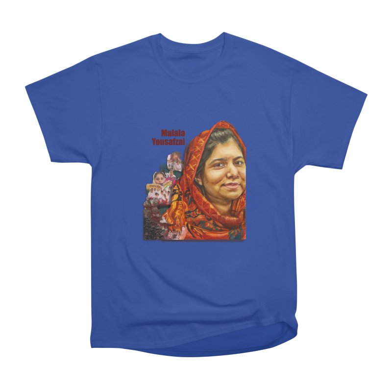Malala Yousafzai Women's Heavyweight Unisex T-Shirt by Afro Triangle's