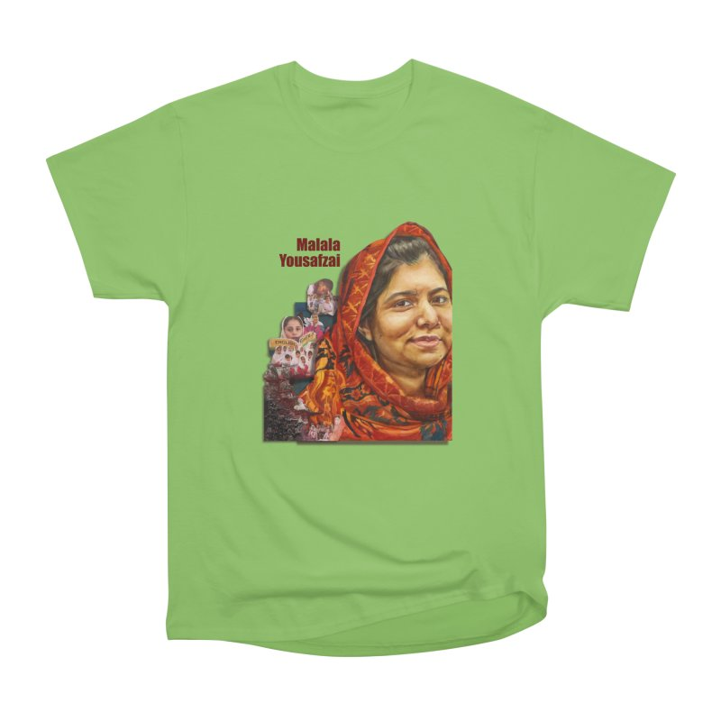 Malala Yousafzai Men's Heavyweight T-Shirt by Afro Triangle's