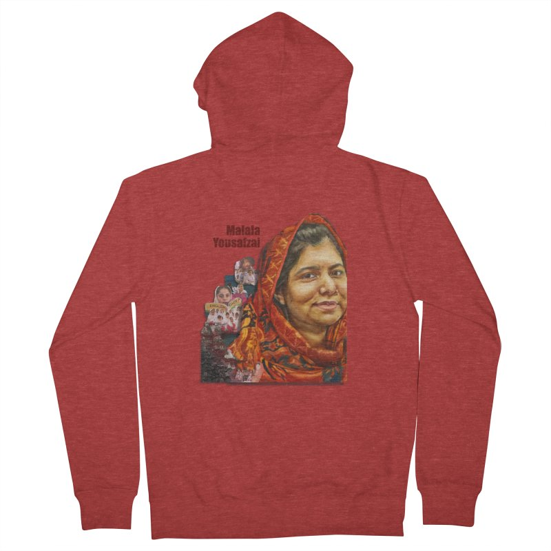 Malala Yousafzai Women's French Terry Zip-Up Hoody by Afro Triangle's