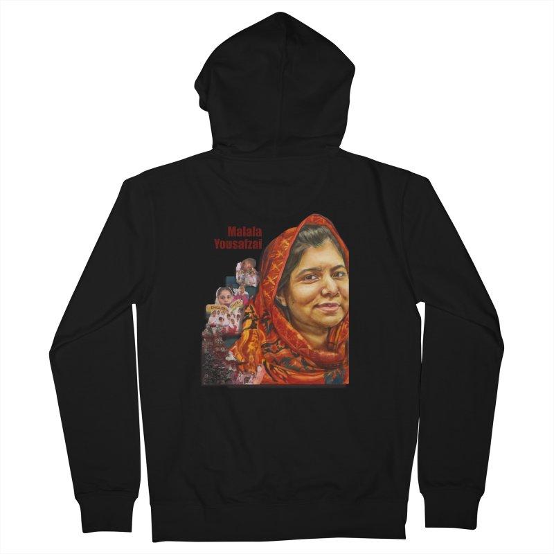 Malala Yousafzai Women's Zip-Up Hoody by Afro Triangle's