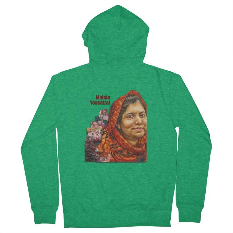 Malala Yousafzai Men's Zip-Up Hoody by Afro Triangle's