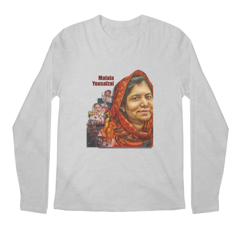 Malala Yousafzai Men's Longsleeve T-Shirt by Afro Triangle's