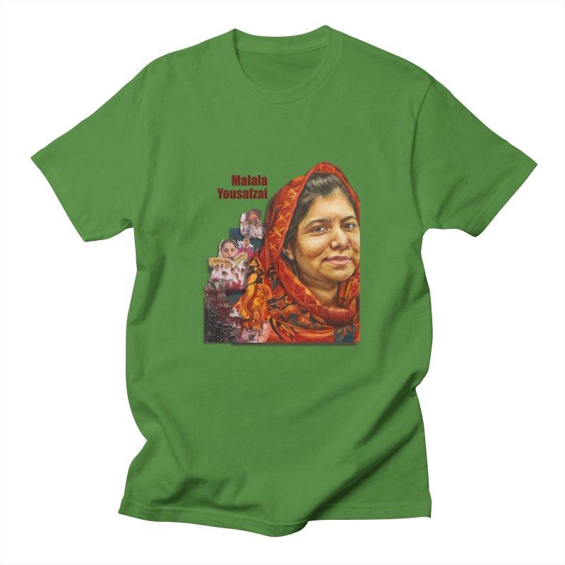 Malala Yousafzai Men's T-Shirt by Afro Triangle's
