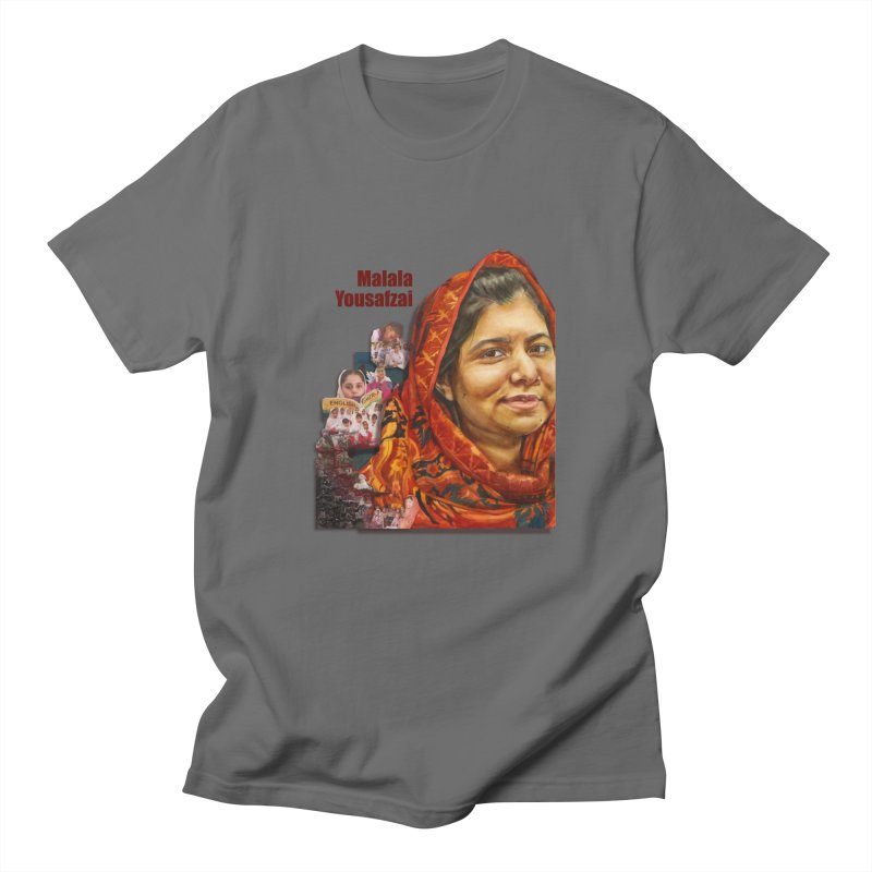 Malala Yousafzai Men's T-Shirt by Afro Triangle's