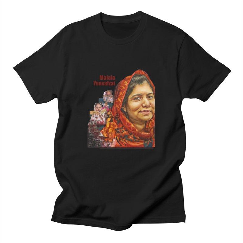 Malala Yousafzai Men's Regular T-Shirt by Afro Triangle's