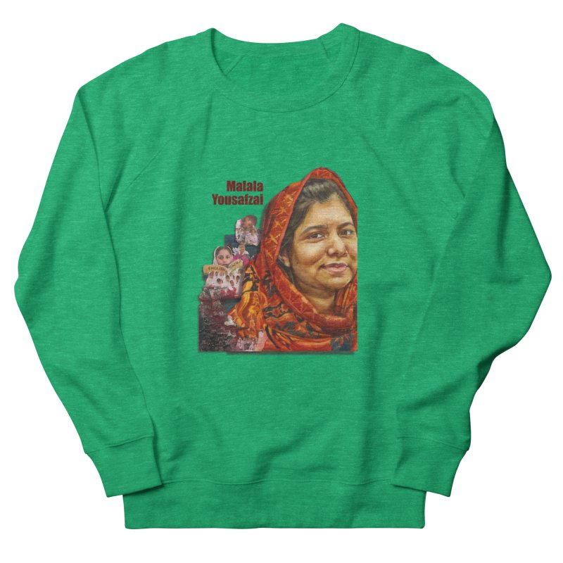 Malala Yousafzai Women's French Terry Sweatshirt by Afro Triangle's