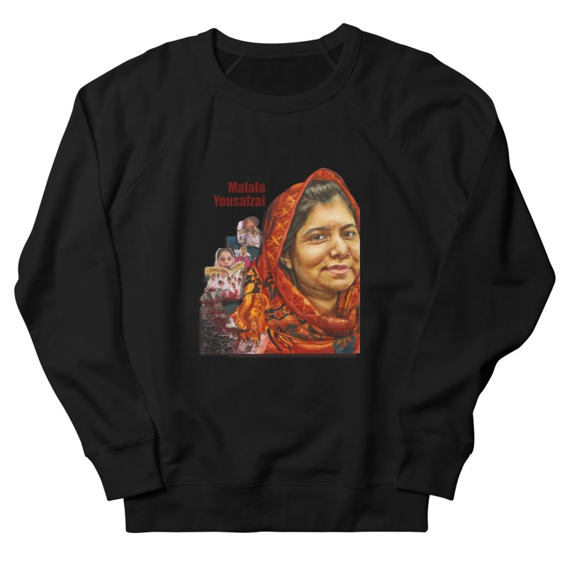 Malala Yousafzai Men's French Terry Sweatshirt by Afro Triangle's