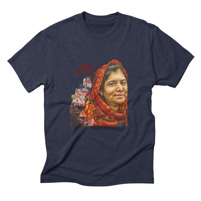 Malala Yousafzai Men's Triblend T-Shirt by Afro Triangle's