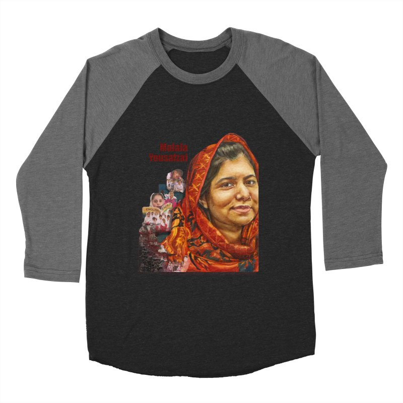 Malala Yousafzai Women's Baseball Triblend T-Shirt by Afro Triangle's