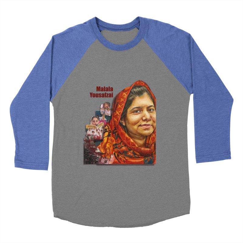 Malala Yousafzai Men's Baseball Triblend T-Shirt by Afro Triangle's