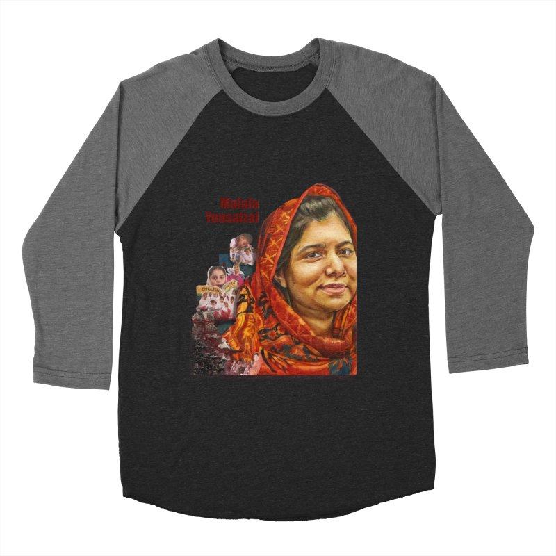 Malala Yousafzai Men's Baseball Triblend Longsleeve T-Shirt by Afro Triangle's