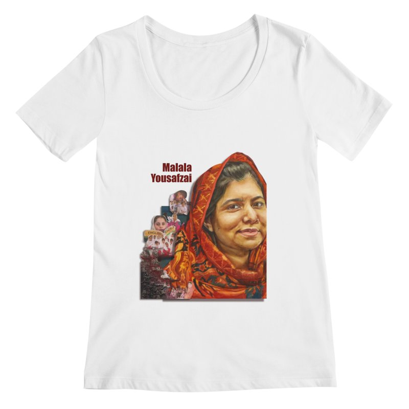 Malala Yousafzai Women's Regular Scoop Neck by Afro Triangle's