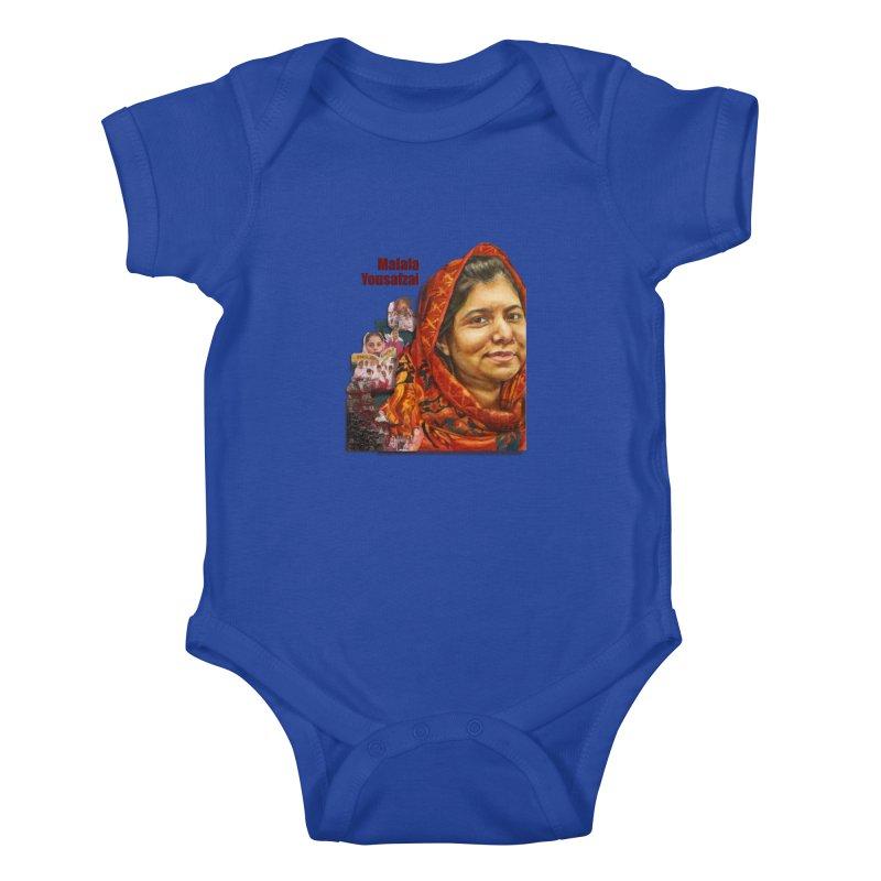 Malala Yousafzai Kids Baby Bodysuit by Afro Triangle's