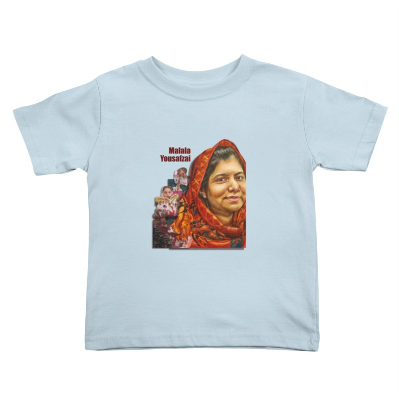 Malala Yousafzai Kids Toddler T-Shirt by Afro Triangle's