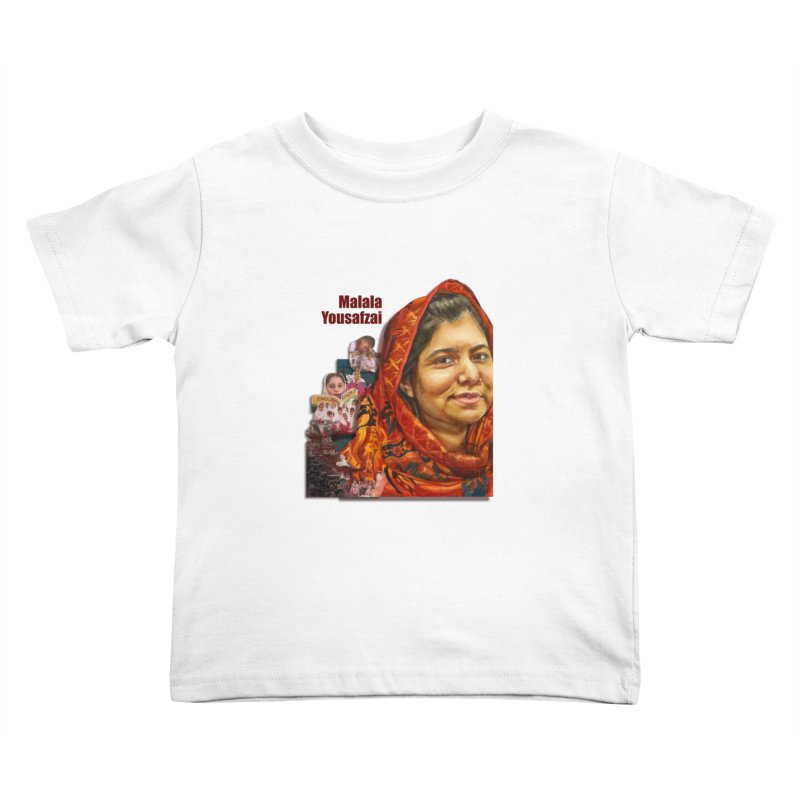 Malala Yousafzai Kids Toddler T-Shirt by Afro Triangle's