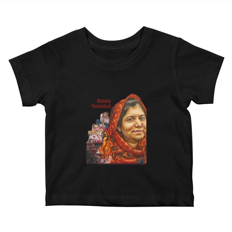 Malala Yousafzai Kids Baby T-Shirt by Afro Triangle's