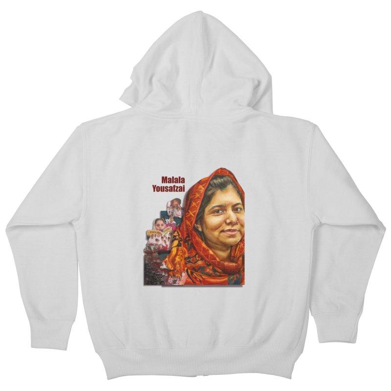 Malala Yousafzai Kids Zip-Up Hoody by Afro Triangle's