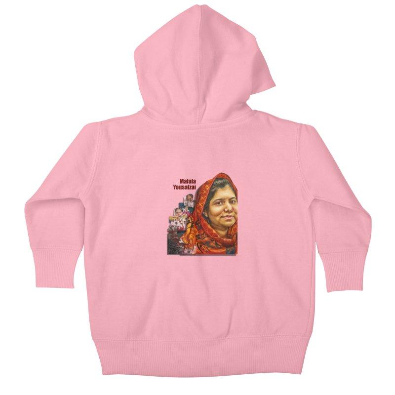 Malala Yousafzai Kids Baby Zip-Up Hoody by Afro Triangle's