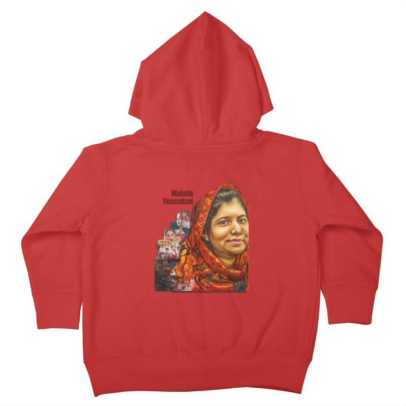 Malala Yousafzai Kids Toddler Zip-Up Hoody by Afro Triangle's